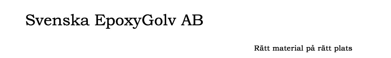 Svenska EpoxyGolv AB – Sunne